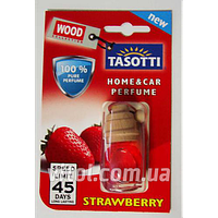 Освежитель воздуха Tasotti (60)-15 дерево Wood Strawberry (клубника), объем 7 мл, освежитель воздуха для автомобиля, освежитель для машины