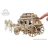 Механическая модель «Почтовый дилижанс» | 3D-пазл | Ugears, фото 1