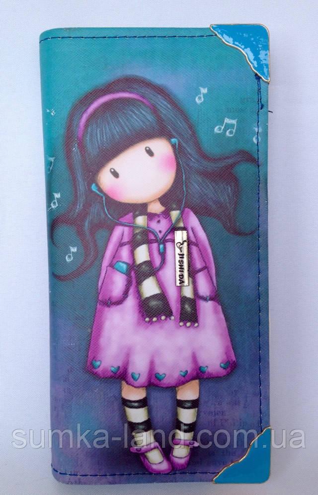 Детский кошелек для девочек на монии на 2 отделения внутри