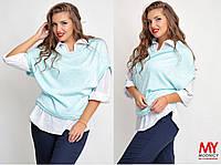Двойка Блуза-рубашка и безрукавка 69230