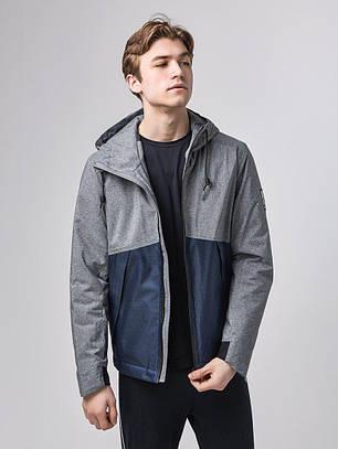 Мужская куртка Riccardo L-2 серо-синий