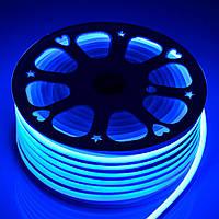 Светодиодный неон гибкий Синий 12В
