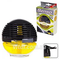 Освежитель воздуха на обдув APC SENSO 119, объем 10 мл (лимон), освежитель воздуха для автомобиля, освежитель для машины