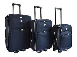 Набор чемоданов на колесах Bonro Style Синий 3 штуки