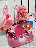 Детский набор для кормления №3 Розовый
