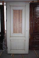 Дверное полотно, массив ясеня, без стекла, в  патине (Д-76)