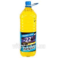 Омыватель стекол зимний для автомобиля HELPIX 0766 объем 2 л, температура замерзания -22°С, лимон, автохимия для ухода за авто, автохимия для ухода за