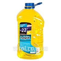 Омыватель стекол зимний для автомобиля HELPIX 0773 объем 4 л, температура замерзания -22°С, лимон, автохимия для ухода за авто, автохимия для ухода за