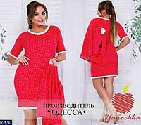 Костюм женский платье и жакет большого размера