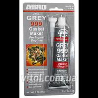 Герметик прокладки для двигателя ABRO 9-AB-R GREY вес 85 гр, original, автохимия для ухода за авто,  автохимия для ухода за машиной