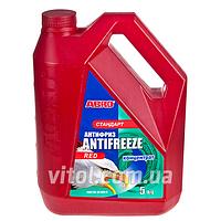 Антифриз для машины ABRO AF-565-H стандарт, концентрат, красный, вес 5 кг, автохимия для ухода за авто, автохимия для ухода за машиной