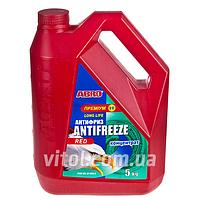 Антифриз для машины ABRO AF-665-H Long Life премиум, концентрат, красный, вес 5 кг, автохимия для ухода за авто, автохимия для ухода за машиной