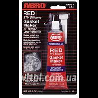 Герметик прокладки для двигателя ABRO AB 11 RED (красный), вес 85 г, автохимия для ухода за авто, автохимия для ухода за машиной