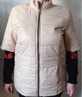 Куртка женская демисезонная батал 48-52 (рукав три четверти). код 277