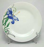 """Набор фарфоровых  тарелок TD-8 """"Синяя лилия"""", 6 шт."""