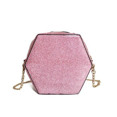 Сумка розовая глиттер