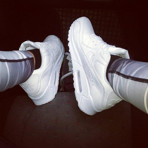 Кроссовки женские кожаные Air Max 90 White