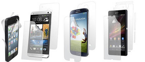 Виды защитных пленок для смартфонов