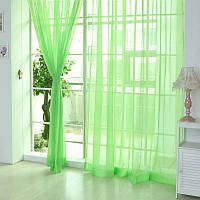 Тюль шифон  однотонный  Зеленый