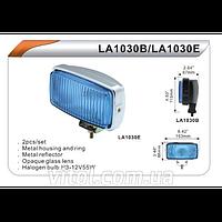 Фары дополнительные для автомобиля DLAA LA 1030 ERY хром, H3-12V-55W, размер 163*88 мм, автооптика, автомобильные фары