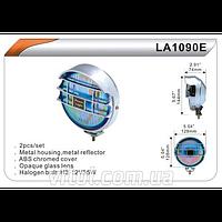 Фары дополнительные для автомобиля DLAA LA 1090 E- W хром, H3-12V-55W, длина 128 мм, автооптика, автомобильные фары