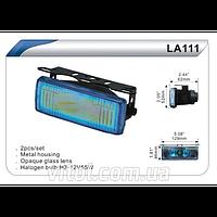 Фары дополнительные для автомобиля DLAA LA 111 BL, H3, 12V, 55W, размер 129х46 мм, 2 шт, в комплекте, автооптика, автомобильные фары