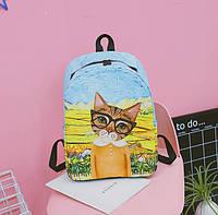 Яркий рюкзак Котик в очках, фото 1