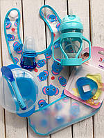 Детский набор для кормления №3 Голубой