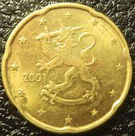 Монета 20 евроцентов Финляндия