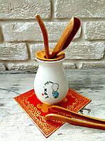 Набор инструментов для чайной церемонии (Фарфор + дерево)