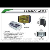Фары дополнительные для автомобиля DLAA LA 7020 ORY, H3-12V-55W, размер 100*42 мм, крышка, автооптика, автомобильные фары