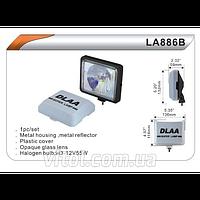 Фары дополнительные для автомобиля DLAA LA 886 BRY, H3-12V-55W, размер 136*116 мм, крышка, автооптика, автомобильные фары