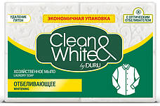 Мыло хозяйственное Duru Clean White Отбеливающее 125гр.X4
