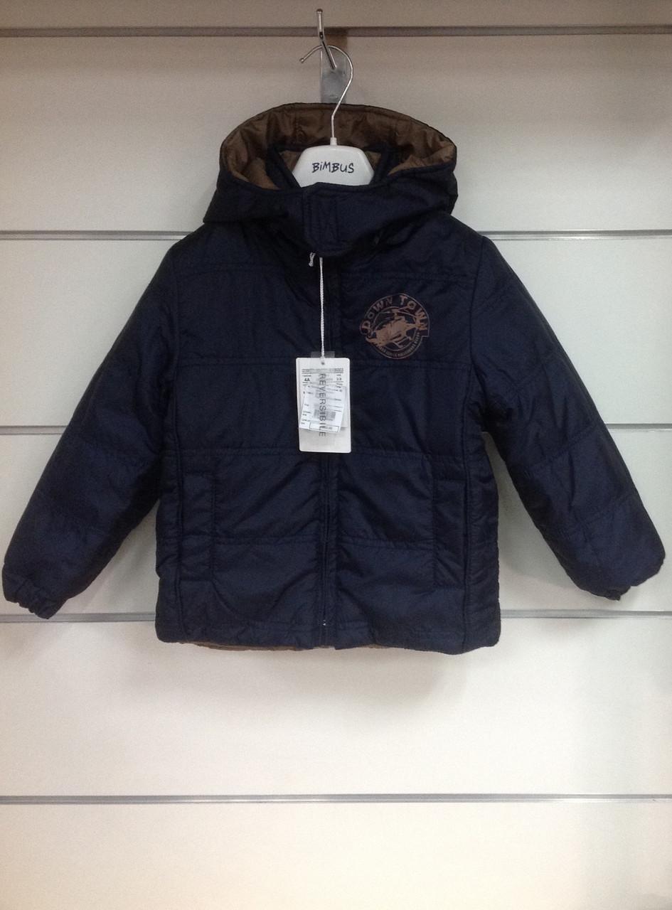 Куртка для мальчика Bimbus двусторонняя р.104