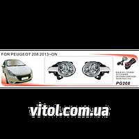 Фары дополнительные для автомобиля PG-208W, модель Peugeot 208, автооптика, автомобильные фары
