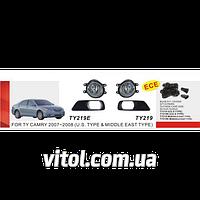 Фары дополнительные для автомобиля TY-219E-U-W, модель Toyota Camry 40 2007, электропроводка, автооптика, автомобильные фары