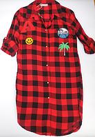Рубашка модная для девочек от 9 до 14 лет.