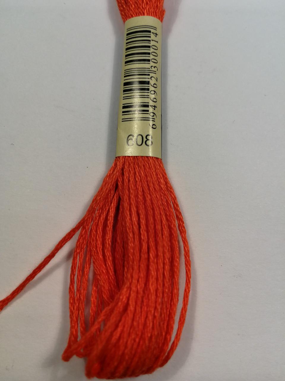 Мулине СХС 608 оранжевый яркий