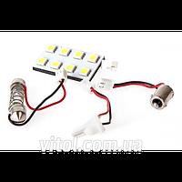 Светодиодная лампа для автомобильных фар PULSO LP-85008 софитная- матрица, 8 SMD- 5050, 12v, White, автомобильная лампа, лампа для авто
