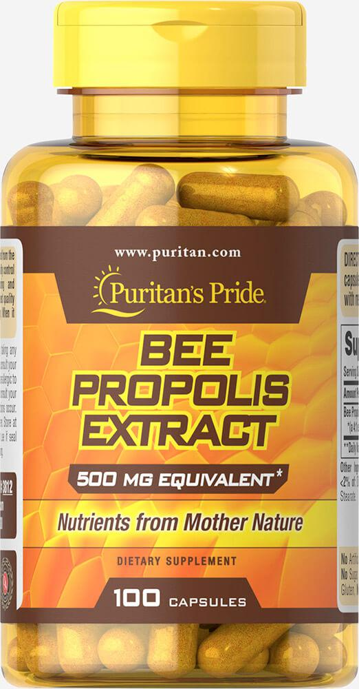 Прополис Пчелиный, Bee Propolis 500 mg, Puritan's Pride, 100 капсул