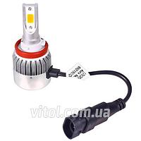 Светодиодные лампы для автомобильных фар PULSO LP-92364, С6, H11 PGJ19- 2, 2*280°COB, 12- 24v36w, 3800Lm, 4300K, автомобильная лампа, лампа для авто