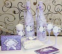 Весільне шампанське, весільні бакали, весільні свічки, подушечка дл яобручок, весільні запрошення, запрошення