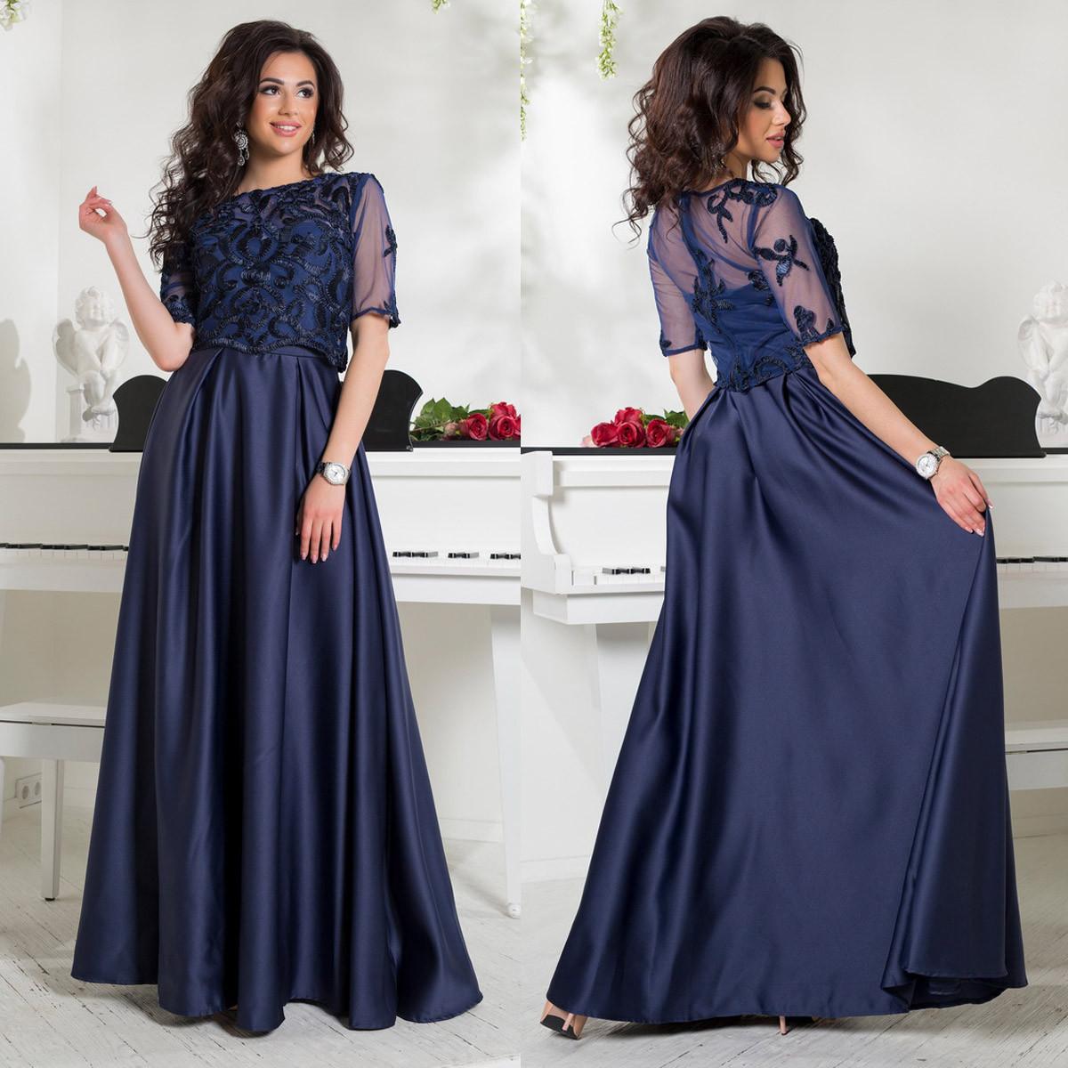 a97ee2c3bdb Элегантное вечернее платье в пол из атласа