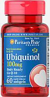 Убихинол, Ubiquinol 100 mg, Puritan's Pride, 60 капсул