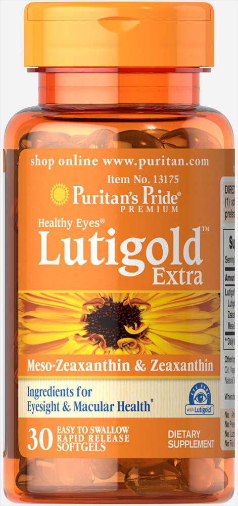 Витамины для глаз с лютеином и зеаксантином Healthy Eyes, Puritan's Pride, 30 капсул