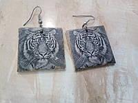 Серьги ручной работы из полимерной глины. Серьги Hand Made., фото 1