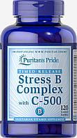 Витамины против стресса, Stress Vitamin B-Complex with Vitamin C-500, Puritan's Pride, 120 таблеток