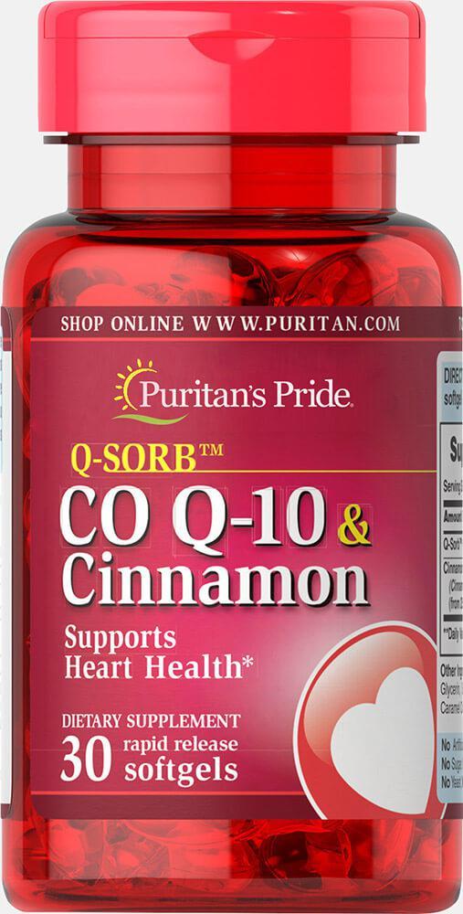 Коэнзим с корицей, Co Q-10  Cinnamon, Puritan's Pride, 30 капсул