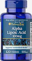 Альфа-липоевая кислота, Alpha Lipoic Acid 100 mg, Puritan's Pride, 120 капсул