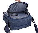 Мужская текстильная сумка M6339-2BLUE синяя, фото 6